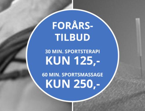 Forårstilbud Sportsterapi og sportsmassage