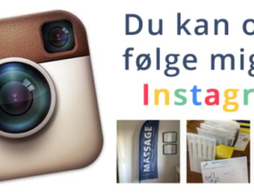 Følg med bagom Massagebiksen på Instagram