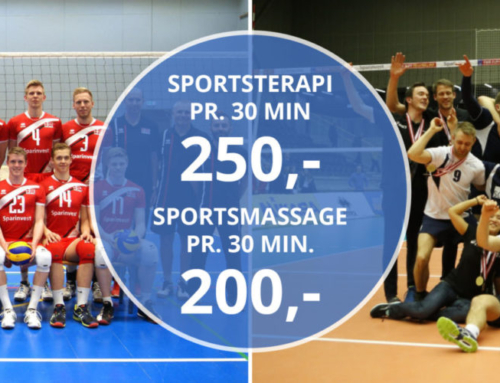 Sportsmassør for Herre A-landsholdet Volleyball og Gentofte Volley Liga Herre